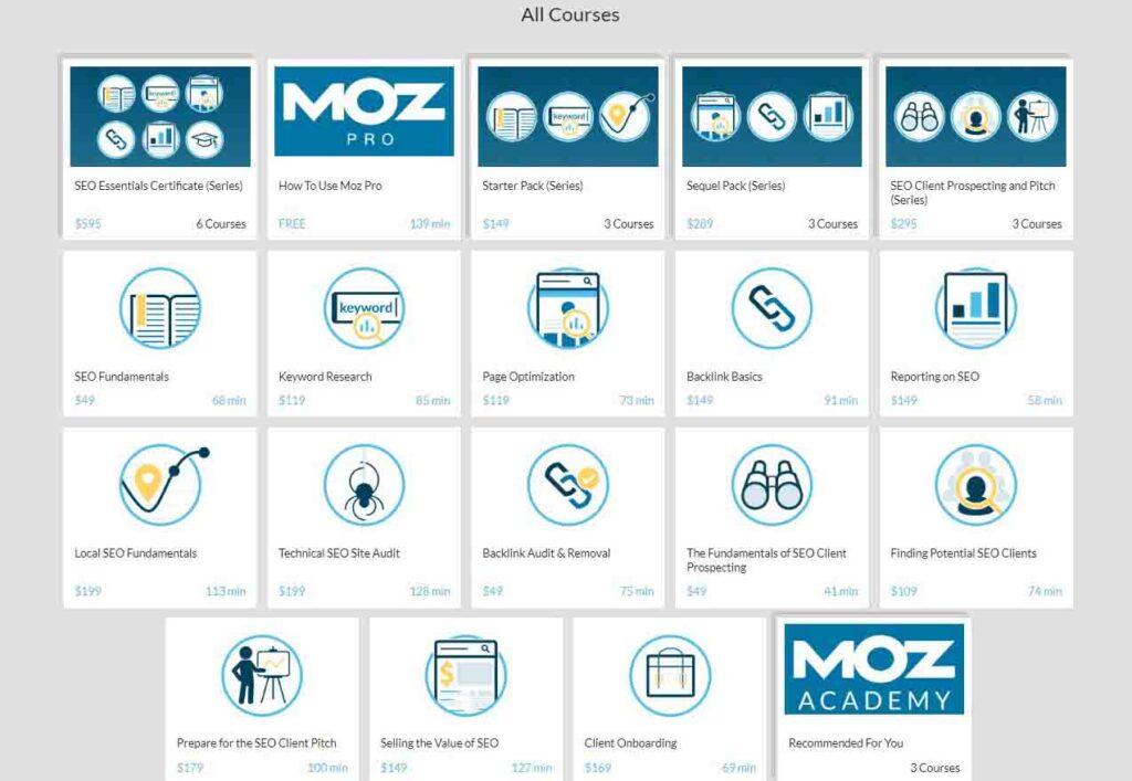 Moz Academy Free SEO Course