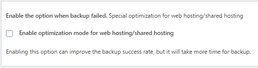 Advance Settings - Shared Hosting Optimization