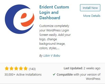 Erident Customa Login and Dashboard Plugin