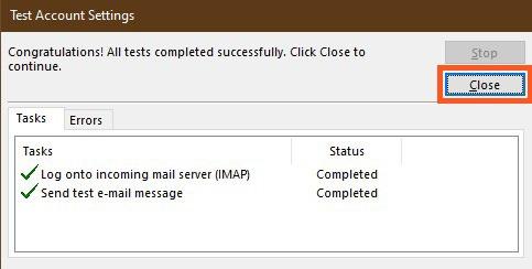Complete Test Account Setup