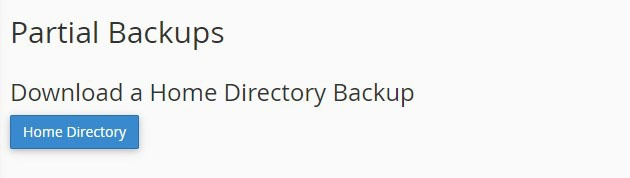 Partial Backup