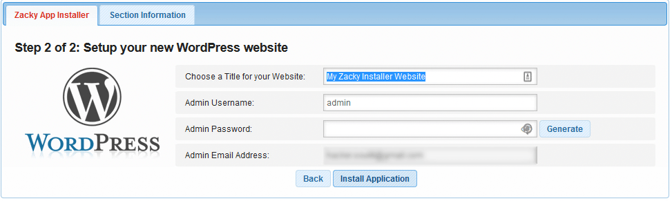 Setting Up Credentials for WordPress