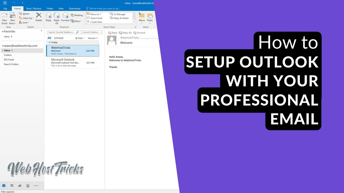 How to Setup Outlook with Professional Email