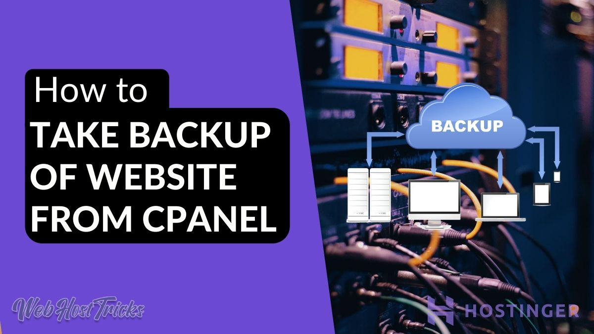 Take Backup from cPanel