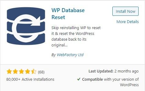 WP Database Reset