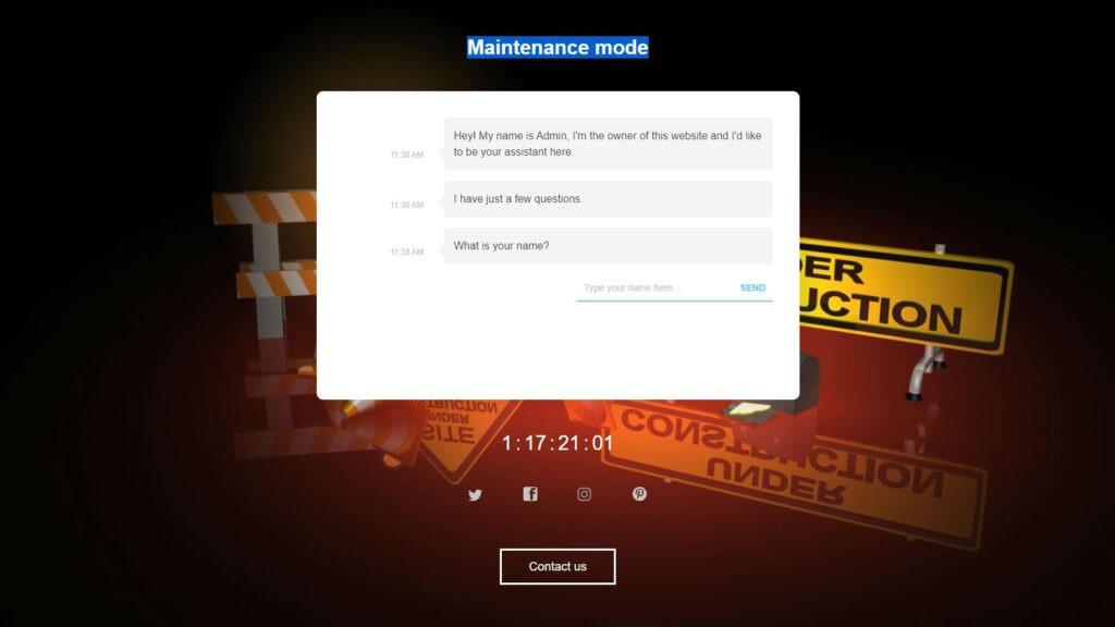 Landing Page by WP Maintenance Mode