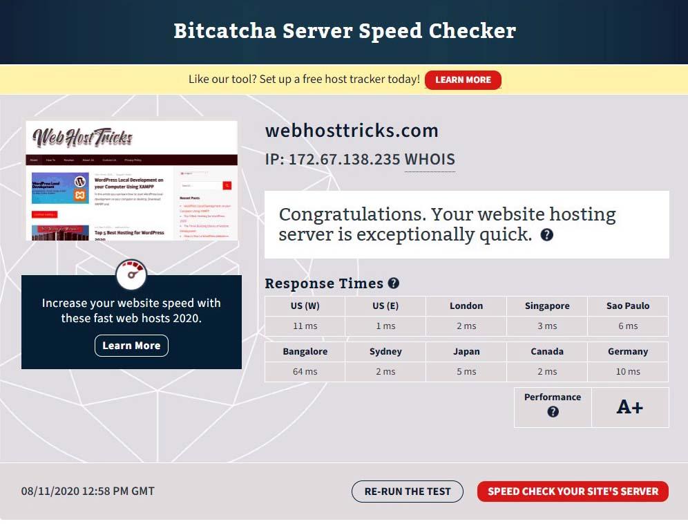 Speed Test by Bitcatcha