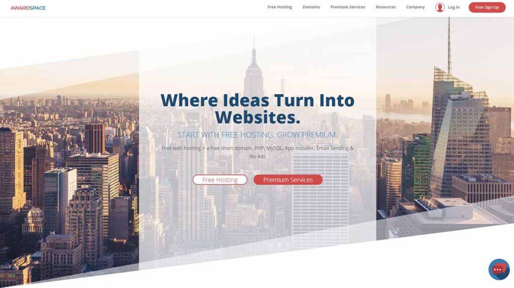 AwardSpace: Free Web Hosting